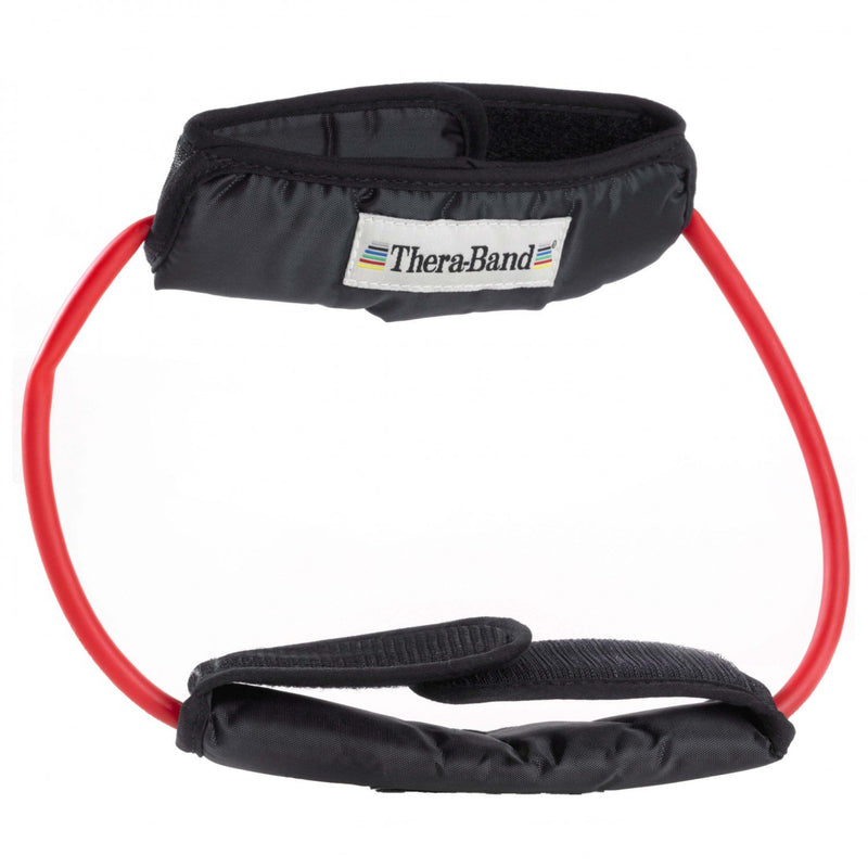 TheraBand Professional Latex Resistance Tubing, 12 Inch Loop With Padded Cuffs