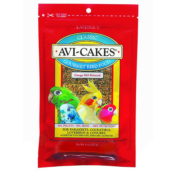 Lafeber Classic Avi-Cakes For Small Birds (Parakeet/Cockatiel) 8oz