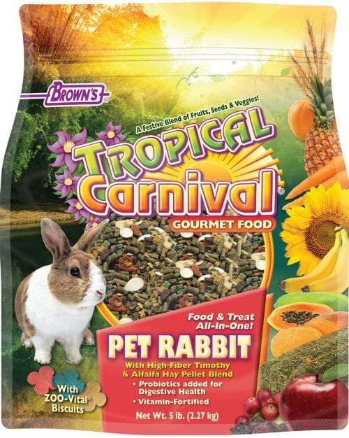 Browns Tropical Carnival Gourmet Pet Rabbit Food 3lb