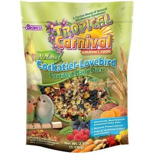 Browns Tropical Carnival Natural Cockatiel-Lovebird 2.5lb