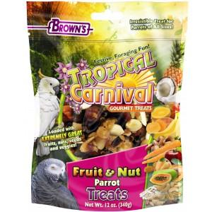 Browns Tropical Carnival Fruit and Nut Parrot Treat 12oz