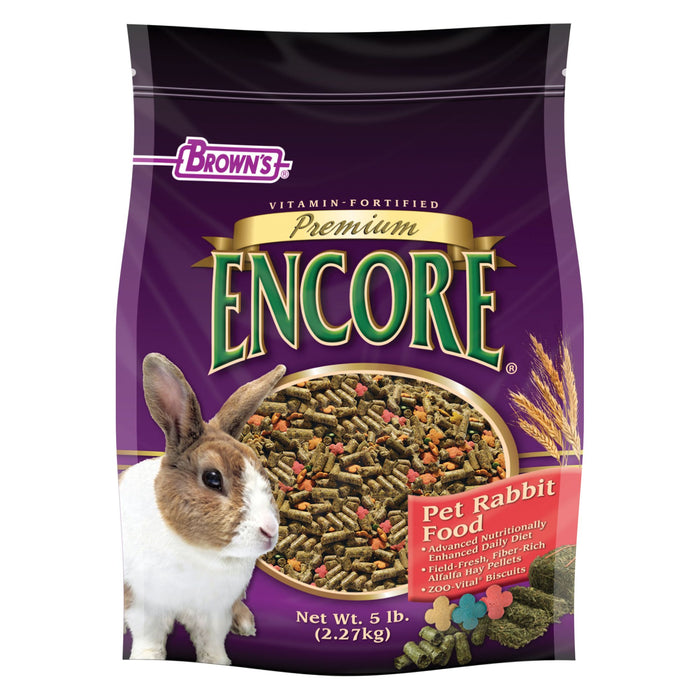 Browns Encore Premium Rabbit Food Case 5-6lb
