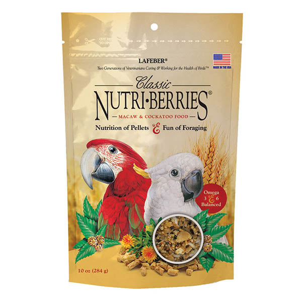 Lafeber Classic Nutri-Berries Macaw/Cockatoo 10oz