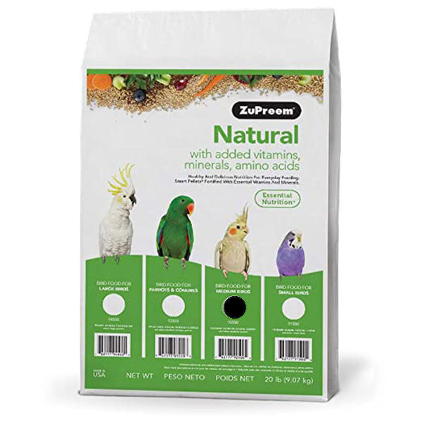 Zupreem Natural Medium Bird (Cockatiel) 20lb