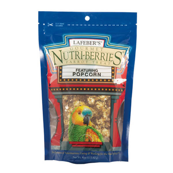 Lafeber Popcorn Nutri-Berries For Parrot 4oz