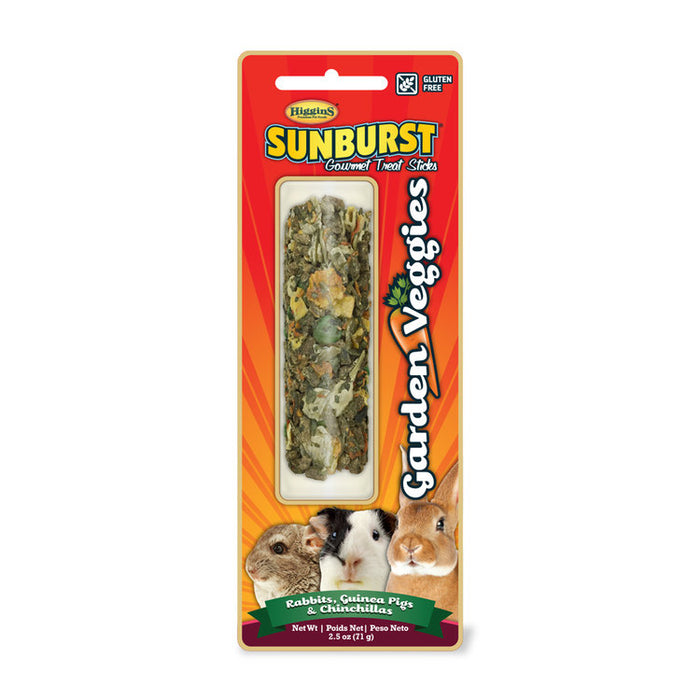 Higgins Sunburst Stick Garden Veggies For Rabbits, Guinea Pigs & Chinchillas 2.5oz