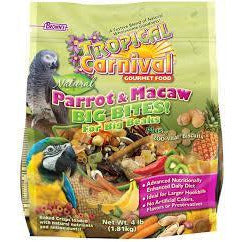 Browns Tropical Carnival Natural Parrot and Macaw Big Bites 4lb