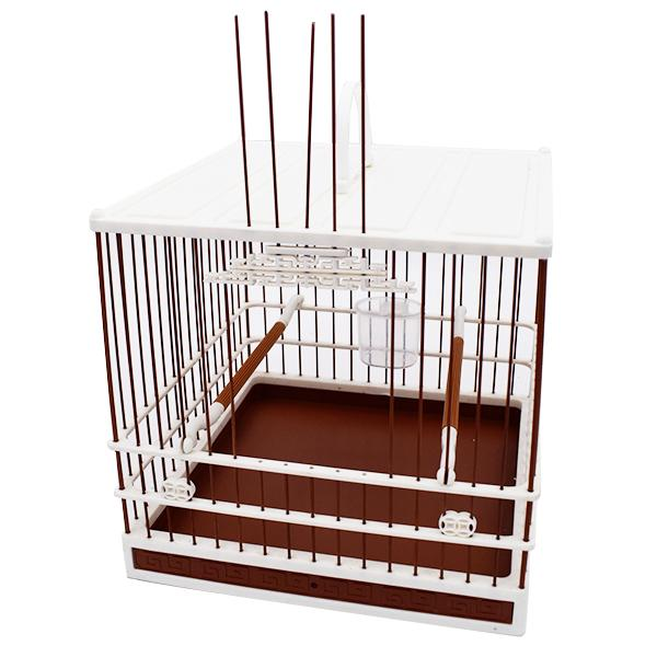 Small Fancy Finch Cage Brown