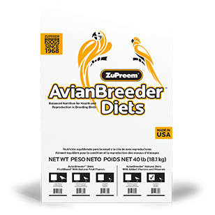 Zupreem Avian Breeder Diet Natural Medium 40lb
