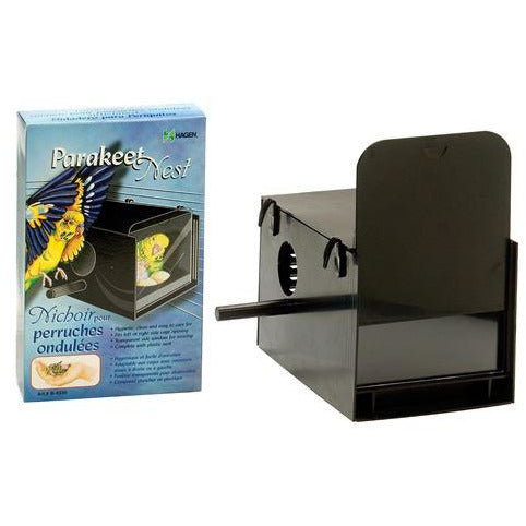 Hagen Parakeet Nest Box Black