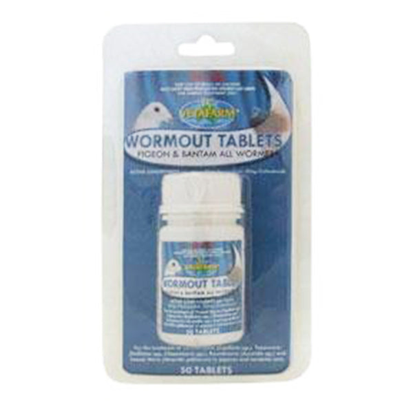 Vetafarm Pigeon Wormout Tablets Plus (50)