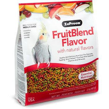 Zupreem Fruit Blend Medium Birds (Cockatiel) 2lb