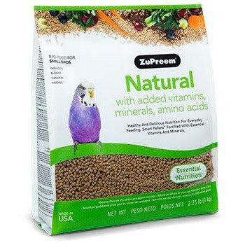 Zupreem Natural Small Bird (Parakeet) 2.25lb