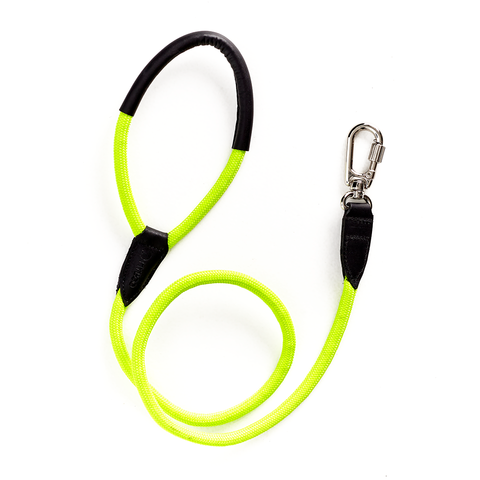 Guia MY BOO Leather Rope - Verde Neon
