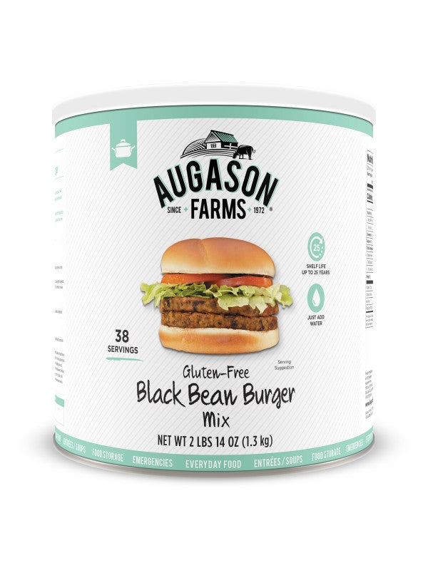Black Bean Burger - Carolina Readiness, dooms day prepper supplies online
