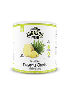 Freeze Dried Pineapple Chunks - Carolina Readiness, dooms day prepper supplies online
