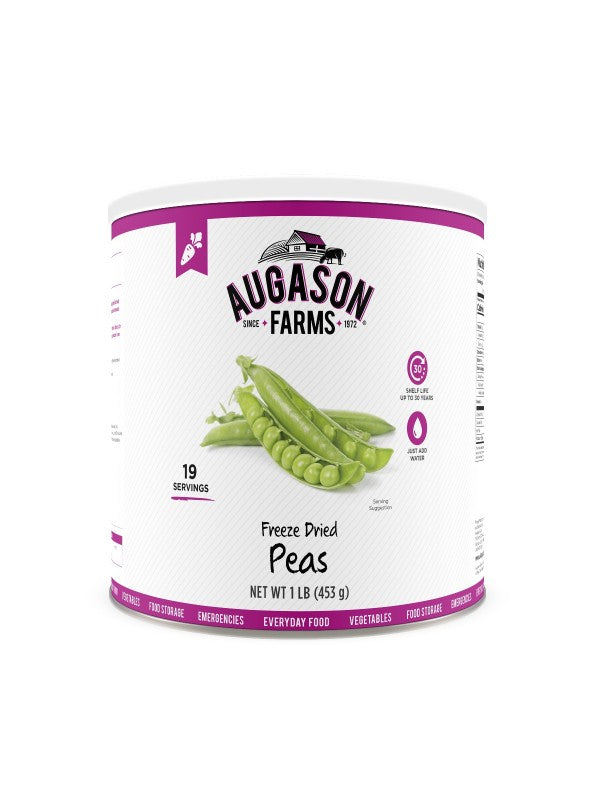 Freeze Dried Peas - Augason - Carolina Readiness, dooms day prepper supplies online