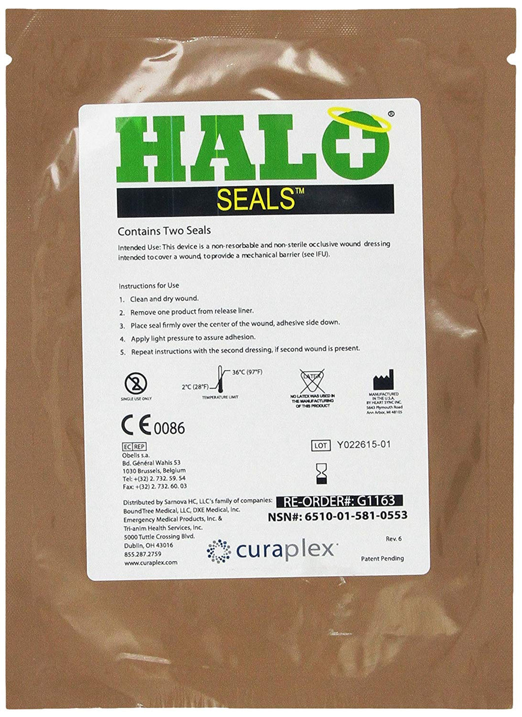 HALO Chest Seal - Carolina Readiness, dooms day prepper supplies online