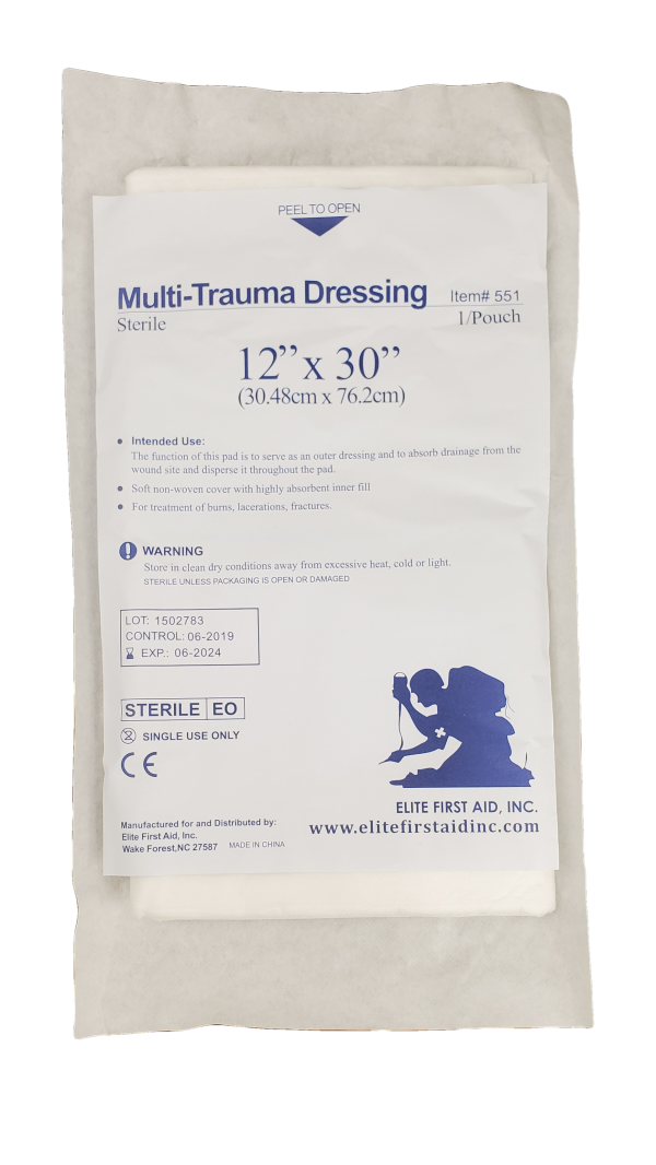 Multi Trauma Dressing  12 x 30 - Carolina Readiness, dooms day prepper supplies online