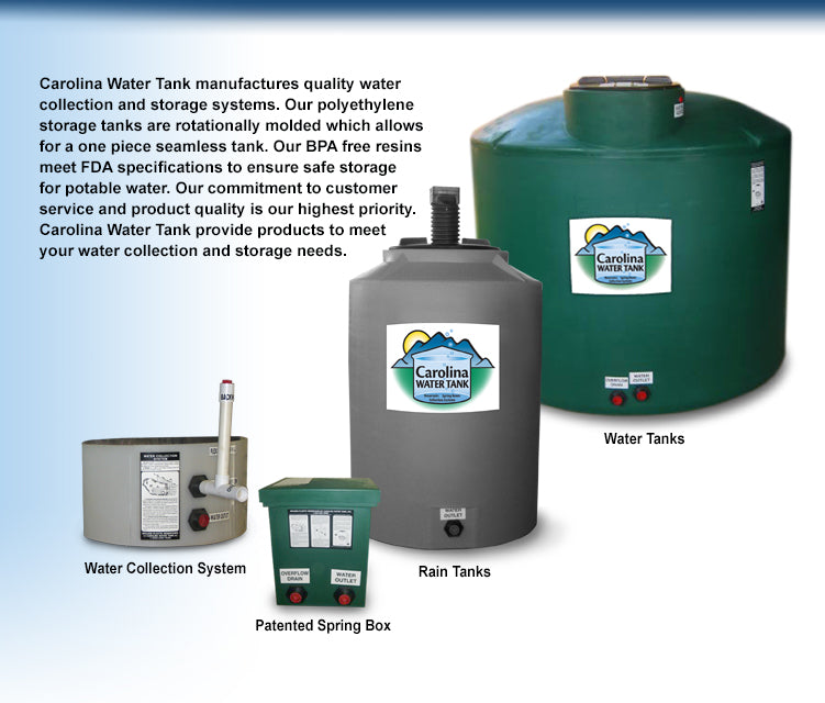 275 Gal. Potable Water Tank - Carolina Readiness, dooms day prepper supplies online