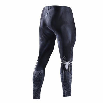 SPIDERMAN Black Compression Leggings/Pants for Men