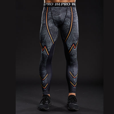 BLACK FLASH Compression Leggings/Pants for Men