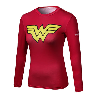 WONDER WOMAN Compression Shirt (Long Sleeve)