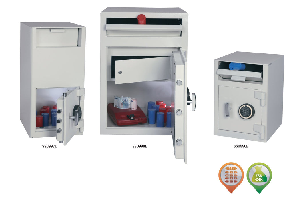 Drop Safes SS0990 Cash Risk 4,000 Front Loading
