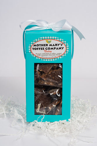 Mother Mary's Toffee Company: Tall One Pound Aqua Box
