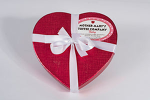 Mother Mary's Toffee Company Heart Shaped Box of Toffee