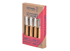 Opinel Olive Wood 4pc Kitchen Knife Set