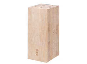 Opinel Beechwood Kitchen Knife Block - Holds 5 Knives