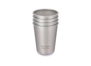 Klean Kanteen Steel Cup 295ml - 4 Pack - Brushed Stainless