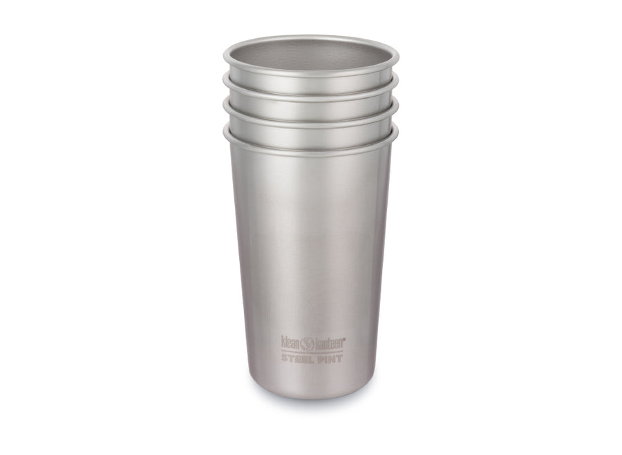 Klean Kanteen Steel Cup 473ml - 4 Pack - Brushed Stainless