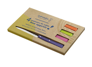 Opinel Bon Appetit 4pc Table Knife Box Set - Pop