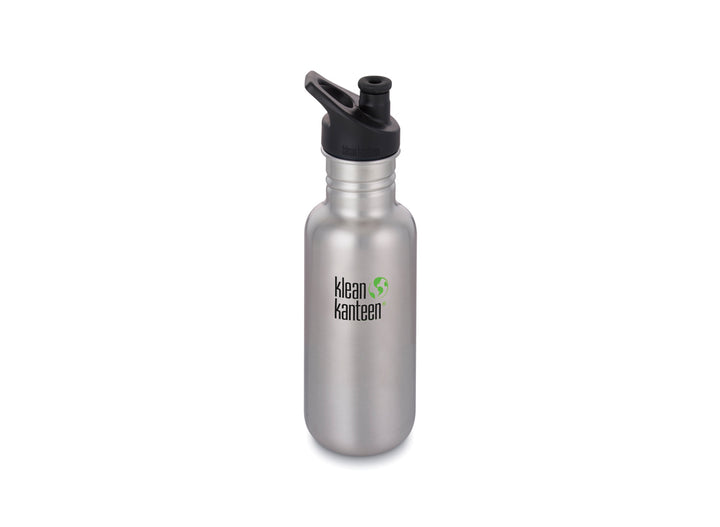 Klean Kanteen Classic w/ Sport Cap 532ml - Brushed Stainless
