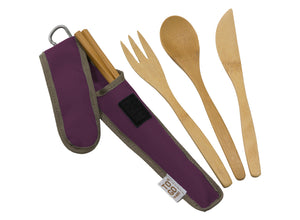 To-Go Ware Bamboo Utensil Set - Mulberry