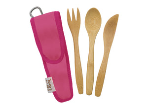 To-Go Ware Bamboo Kids Utensil Set - Melon