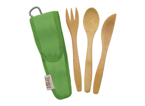 To-Go Ware Bamboo Kids Utensil Set - Kiwi