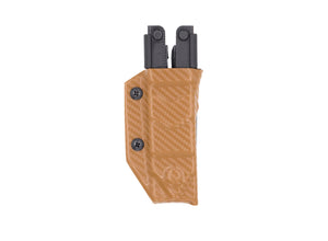 Clip & Carry Kydex Sheath: Gerber MP600 - Brown Carbon Fibre
