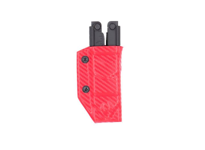 Clip & Carry Kydex Sheath: Gerber MP600 - Red Carbon Fibre