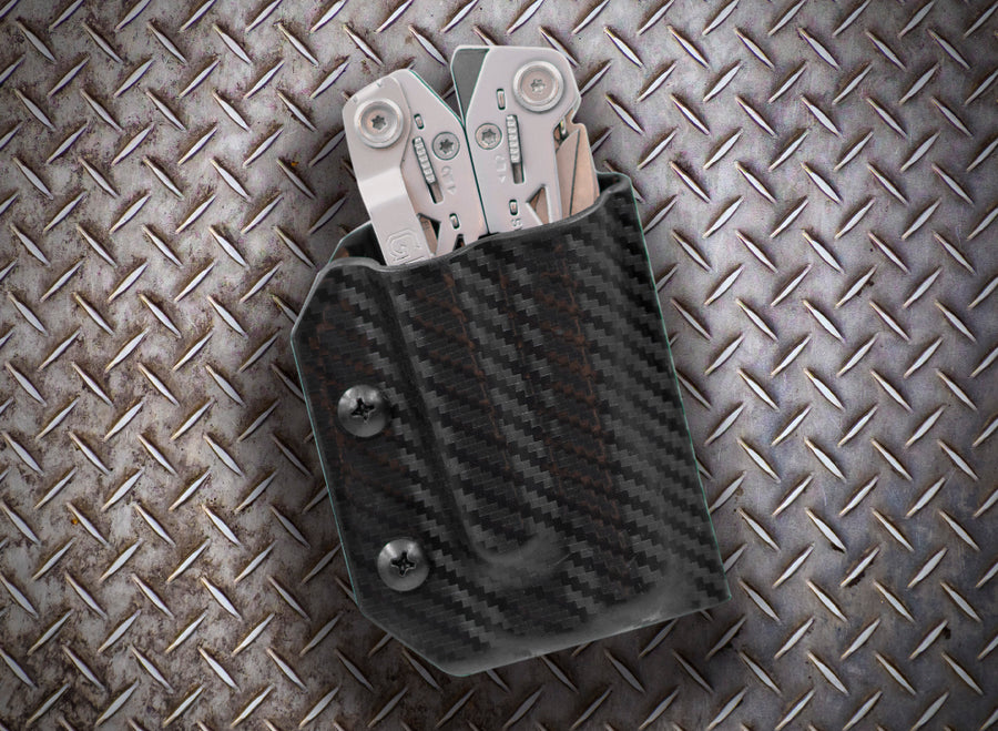 Clip & Carry Kydex Sheath: Gerber Suspension NXT - Black Carbon Fibre