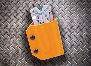 Clip & Carry Kydex Sheath: Gerber Suspension NXT - Orange Carbon Fibre