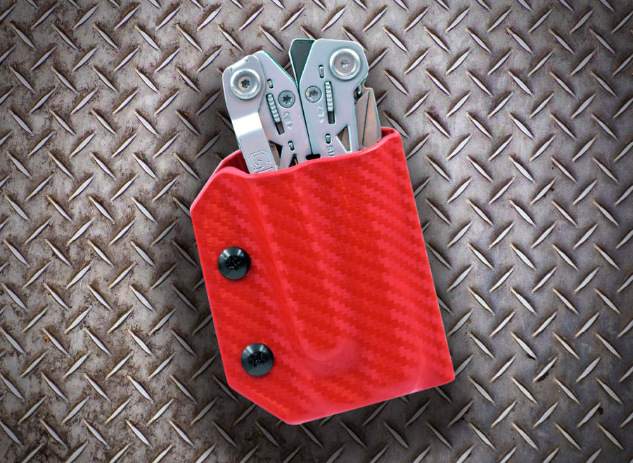 Clip & Carry Kydex Sheath: Gerber Suspension NXT - Red Carbon Fibre