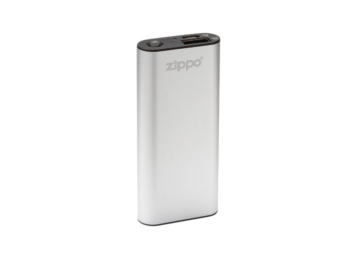 Zippo Heatbank 3-Hour Rechargeable Hand Warmer & Power Bank - Silver