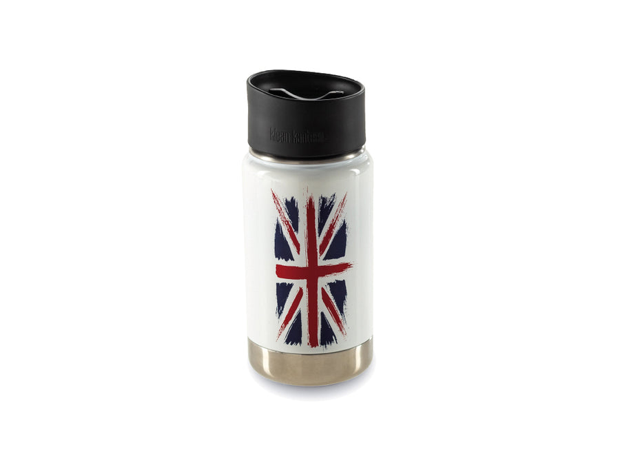 Klean Kanteen Insulated Wide w/ Café Cap 355ml - Union Jack