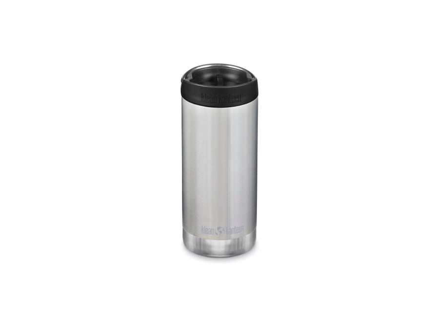 Klean Kanteen Insulated TKWide w/ Café Cap 355ml - Brushed Stainless