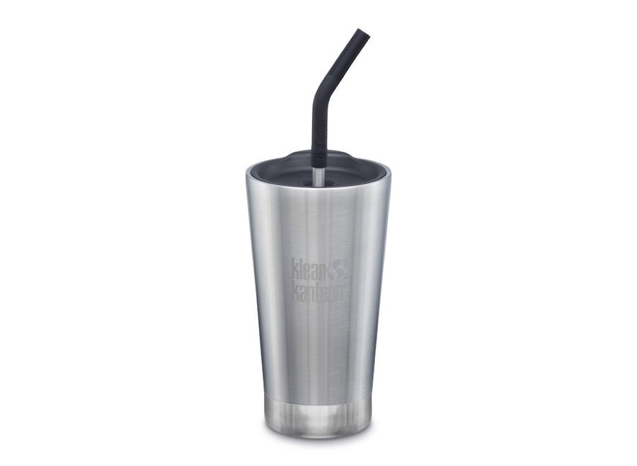 Klean Kanteen Insulated Tumbler w/ Straw 473ml - Brushed Stainless