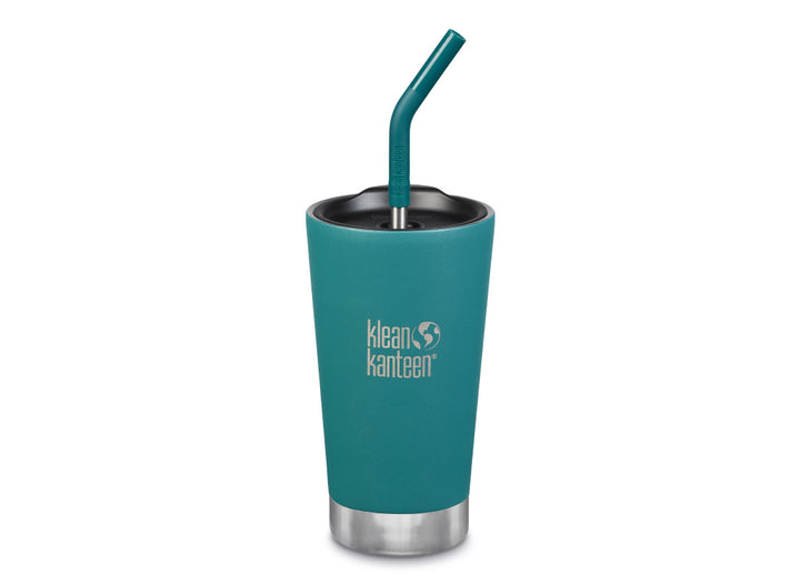 Klean Kanteen Insulated Tumbler w/ Straw 473ml - Emerald Bay