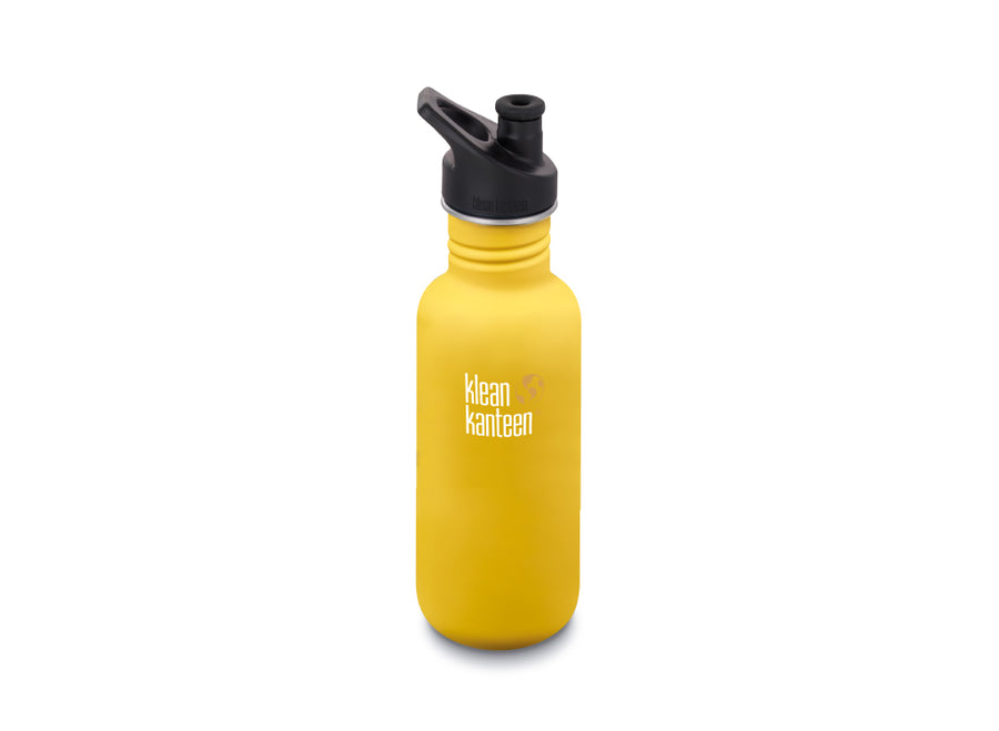 Klean Kanteen Classic w/ Sport Cap 532ml - Lemon Curry